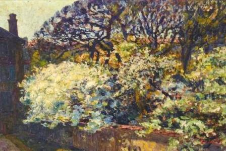 Auguste Michel COLLE       :  Printemps à Nancy