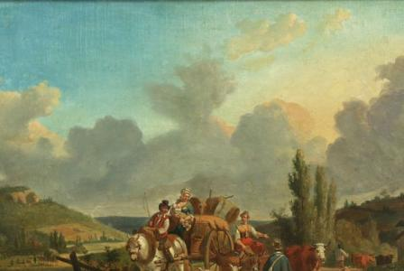Jean-François DEMAY       :  Travelers with a loaded cart
