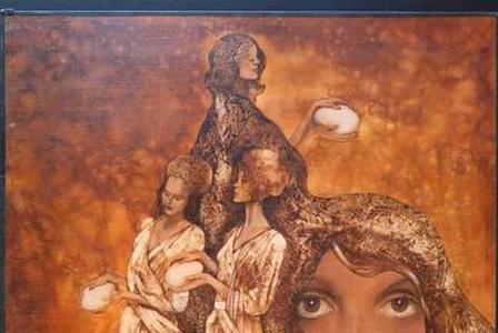 Paul FLICKINGER       :     Quatre femmes aux oeufs