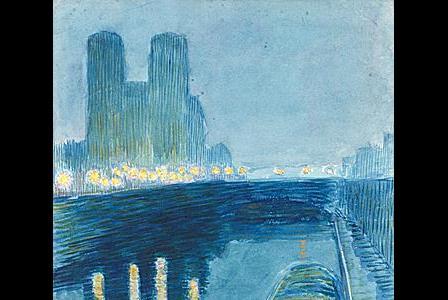 Paul Emile COLIN       : La Seine, la nuit