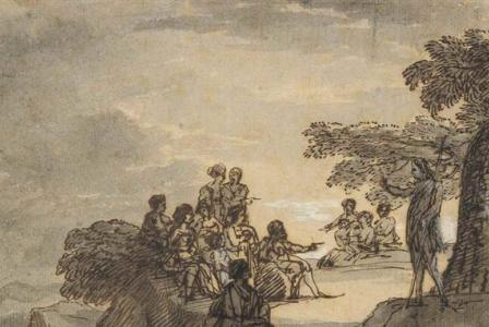 Claude GELLEE       :   Saint Jean Baptiste préchant