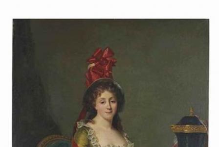 Rose-Adélaïde DUCREUX       :  Portrait de dame assise