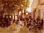 """Léon Joseph VOIRIN  """"Le café Le Glacier à Nancy"""""""