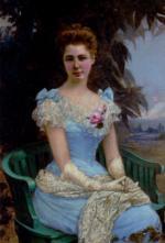 """Marie Marguerite BARCO  """"La femme en robe bleue"""""""