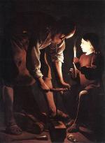 """Georges de La Tour  """"Saint Joseph charpentier"""""""