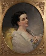"Auguste Théodore DESCH  ""Portrait de jeune femme"""