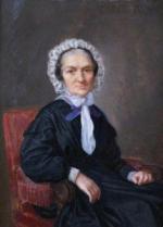 """Jules Georges FERRAND  """"Portrait de vieille femme assise"""""""