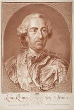 "Jean Charles FRANÇOIS  ""Louis XV, Roi de France"""