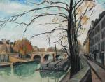 """Léon GAUDEAUX  """"Paris, la Seine"""""""