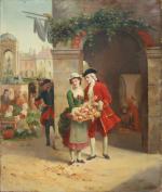 """Jean François GOSE  """"La vendeuse de fleurs"""""""