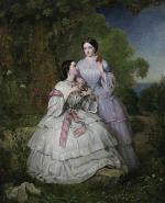 """Jean-Edouard LACRETELLE  """"Deux soeurs dans un paysage"""""""