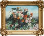 """Marie Octavie PAIGNE-STUREL  """"Vase de fleurs"""""""
