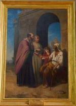 Eugène TOURNEUX       :       Saint Lubin faisant l'aumone