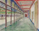 """Gaston VENTRILLON le Jeune  """"Palais de la Bahia à Marrakech"""""""