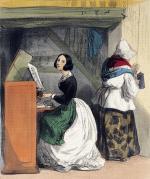 """Alfred André GENIOLE  """"Les femmes de Paris - Leçon de piano"""""""