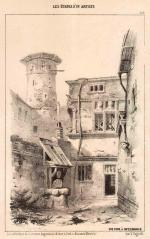 Victor FAGONDE       -  Une cour à Metz
