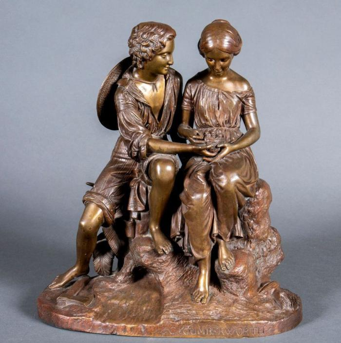 Charles CUMBERWORTH       :  Le couple au nid d'oiseaux