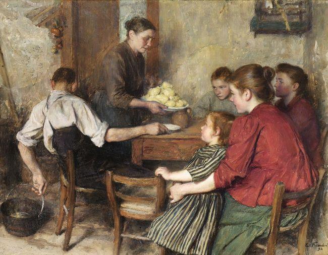 Emile FRIANT       :  Le repas frugal