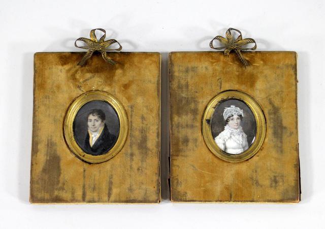 Jean-Baptiste SINGRY       :    Portraits d'un homme et d'une jeune femme