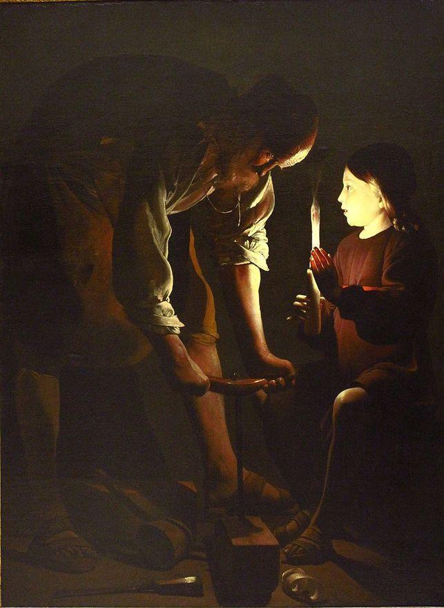 Georges de La TOUR       :  Saint Joseph charpentier