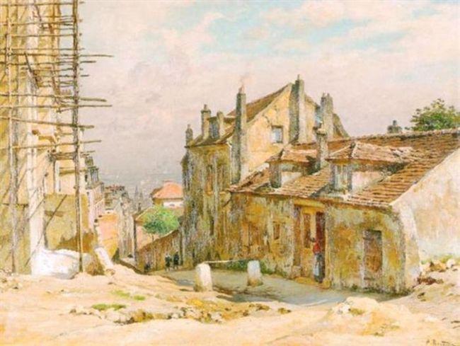 Alfred RENAUDIN       :  Montmartre et la maison de Mimi-Pinson