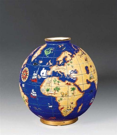 """Maurice-Paul CHEVALLIER       :   Vase """"Mappemonde"""""""