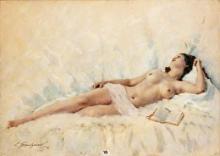 """Lucien GRANDGERARD  """"Nu couché"""""""