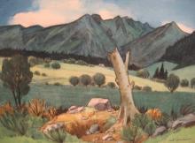 """Robert CADORE  """"Paysage d'Auvergne"""""""
