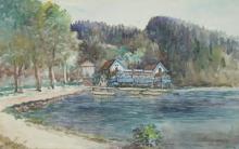 """Henri CALOT  """"Le lac"""""""