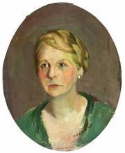 """Andrée Anne Canel  """"Portrait de jeune femme"""""""