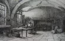 Claude-Emile THIERY       :  La Chartreuse de Bosserville, la cuisine