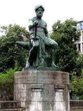 """Frédéric COUBILLIER  """"Allégorie du travail"""" 1911"""
