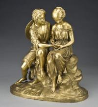 "Charles CUMBERWORTH  ""Jeune couple au nid d'oiseau"""