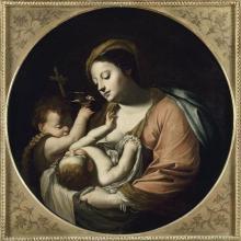 """Charles DAUPHIN  """"La Sainte Famille au chardonneret"""""""