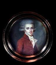"""Joseph DERANTON  """"Portrait d'un jeune homme"""""""