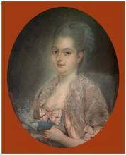 """Jean François DURAND  """"Portrait de la Baronne Dupire d'Hinges"""""""