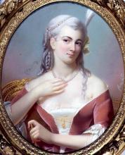 """Théodore FANTIN-LATOUR  """"Dame en robe de velours rouge"""""""