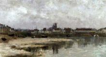 """Marie-Auguste FLAMENG  """"Vue de Cancale"""""""