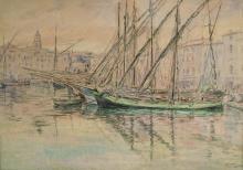 """Emile GUDIN  """"Le port de Saint Tropez"""""""