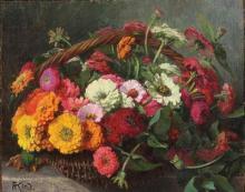 """Auguste KIND """"Bouquet de fleurs""""."""