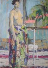 """Jacqueline OBLIN-CORBIN  """"Femme au paréo"""""""