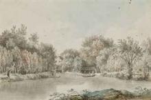 """Alexis Nicolas PERIGNON  """"Paysage fluvial"""""""