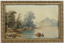 """Charles François PENSÉE  """"Au bord du lac"""""""