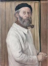 """Gustave René PIERRE  """"Autoportrait"""""""
