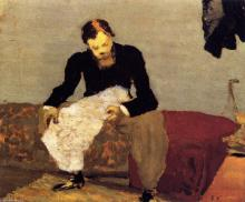 Ker Xavier ROUSSEL  lisant son journal par Vuillard