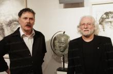 Jean Charles TAILLANDIER avec le sculpteur J.F. LAURENT