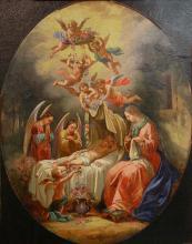 """Jean Joseph THORELLE  """"Le sommeil de l'Enfant Jésus"""""""