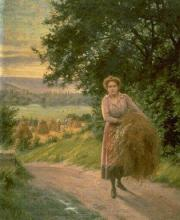 """Antoine VIERLING  """"Jeune femme sur un chemin de campagne"""""""