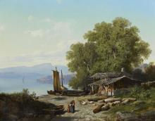 "Victor Alexandre GARNIER  ""Lac italien"""