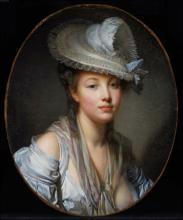 """Rose-Adélaïde DUCREUX  """"Portrait de jeune femme"""""""